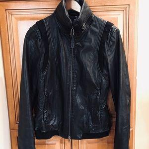 MAKAGE Black Leather Jacket.